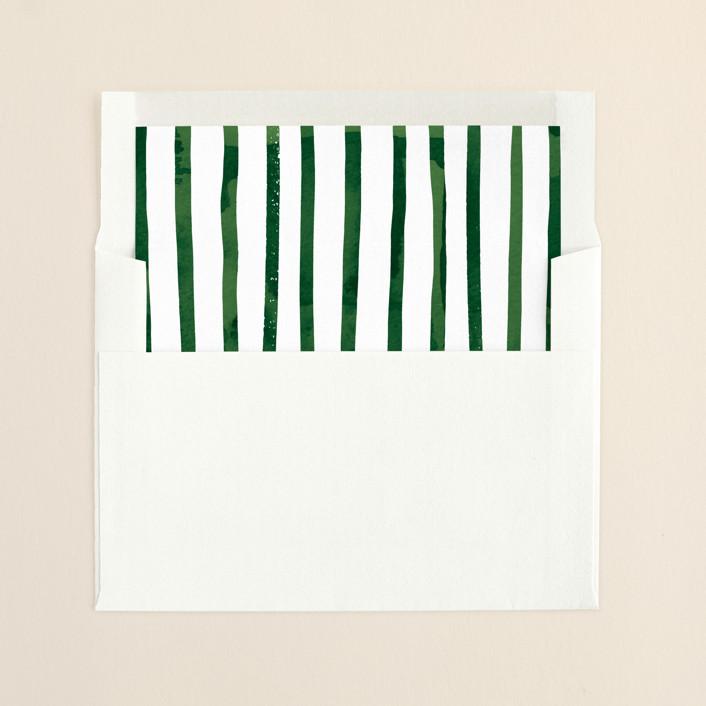 """""""Bold Noel"""" - Modern, Simple Slip-in Envelope Liners in Evergreen by Angela Marzuki."""