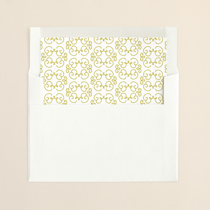 """Frosted Frames"" - Vintage, Classical Slip-in Envelope Liners in Brass by Laura Hankins."