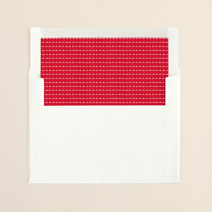 """Goodness Sake"" - Simple, Modern Slip-in Envelope Liners in Apple by Annie Holmquist."