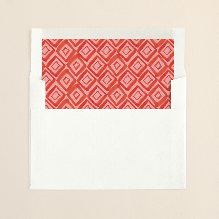"""""""Painted Foliage Frame"""" - Modern Slip-in Envelope Liners in Holly by Alethea and Ruth."""