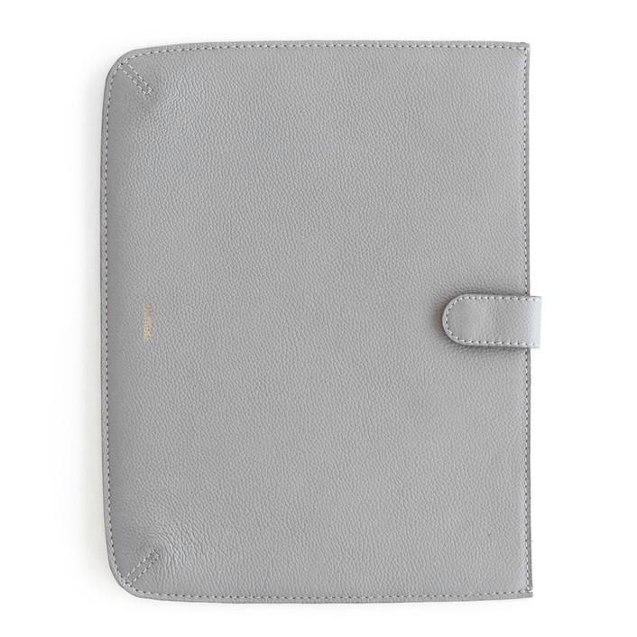 Dark Grey iPad® Case Leather Large iPad Case