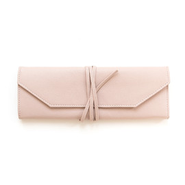 This is a pink jewelry roll by Minted called Blush.