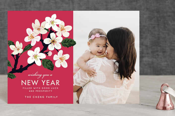"""""""Lunar Blossoms"""" - Chinese New Years Petite Cards in Amaranth by Faiths Designs."""