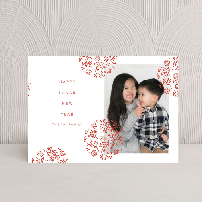 """""""Festive Lantern"""" - Chinese New Years Petite Cards in Cranberry by Nazia Hyder."""