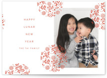 This is a red chinese new year card by Nazia Hyder called Festive Lantern printing on smooth signature in standard.