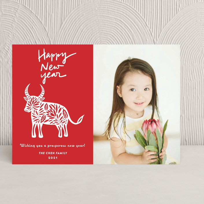 """""""Chinese Paper Cut"""" - Chinese New Years Cards in Ruby by Yaling Hou Suzuki."""