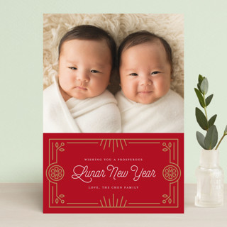 Prosperous Oranges Chinese New Years Postcards