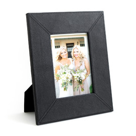 This is a black picture frame by Minted called Black Leather.