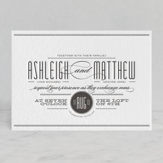 Twine Letterpress Wedding Invitations