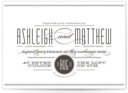 Twine Letterpress Wedding Invitations