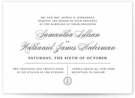 Notable Letterpress Wedding Invitations
