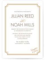 Modern Classic Letterpress Wedding Invitations