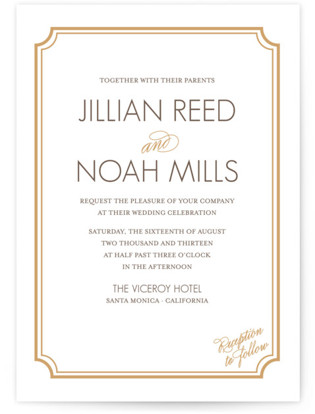 photo of Modern Classic Letterpress Wedding Invitations