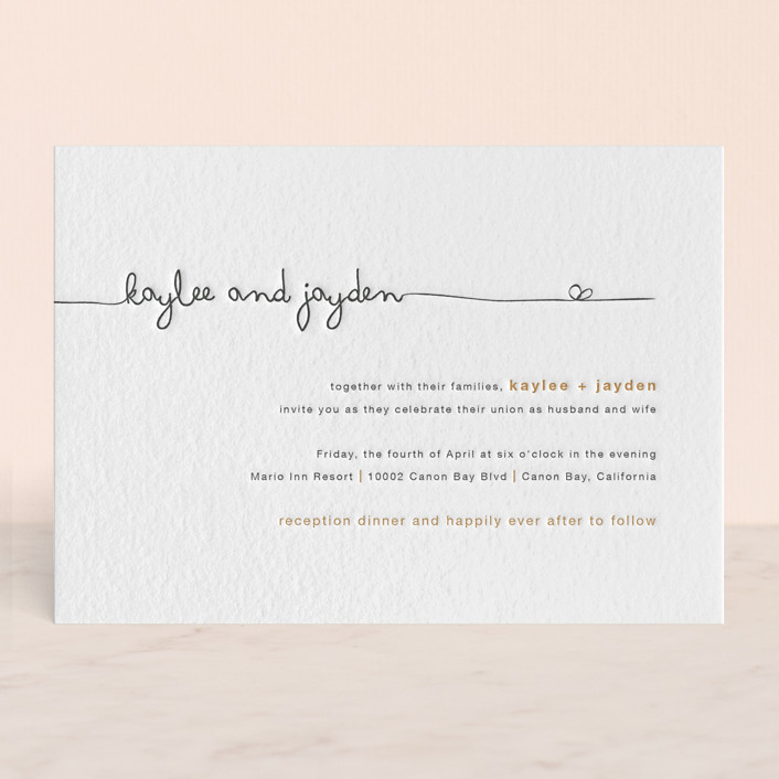 The Happy Couple Letterpress Wedding Invitations by R studio | Minted