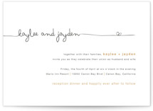 This is a grey letterpress wedding invitation by R studio called The Happy Couple with letterpress printing on coventry320 in standard.