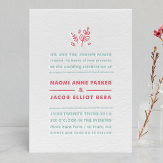 Love Stacked Letterpress Wedding Invitations