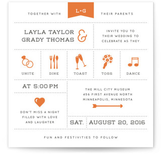 Celebrate The Day Letterpress Wedding Invitations