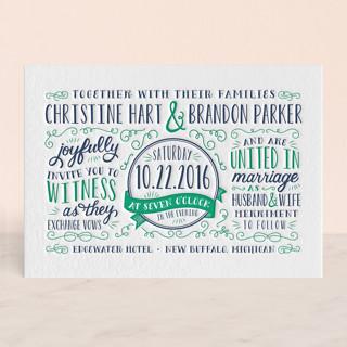 Serendipity Letterpress Wedding Invitations