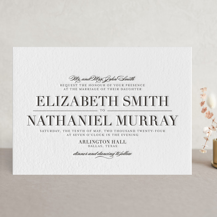 letterpress hand pressed on luxe paper - Letterpress Wedding Invitations