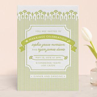 In the Meadow Letterpress Wedding Invitations