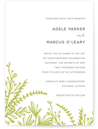Garden Letterpress Wedding Invitations