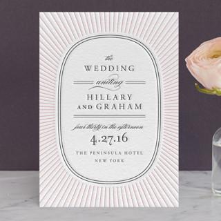Plaza Letterpress Wedding Invitations