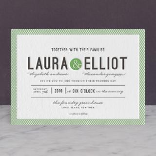 Dot and Cross Letterpress Wedding Invitations