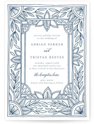 Handmade Ornate Frame Letterpress Wedding Invitations