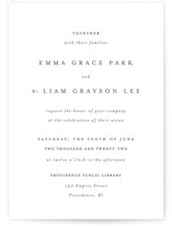 This is a black letterpress wedding invitation by Design Lotus called A Thousand Years with letterpress printing on somerset500 in standard.