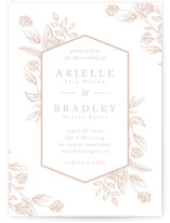 This is a brown letterpress wedding invitation by Susanne Kasielke called Celebration of Flowers with letterpress printing on somerset500 in standard.