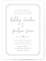 This is a brown letterpress wedding invitation by Erin Deegan called Traditional Twist with letterpress printing on somerset500 in standard.