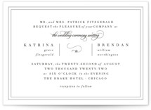 This is a black letterpress wedding invitation by Kimberly FitzSimons called Garnish with letterpress printing on coventry320 in standard.