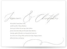 This is a brown letterpress wedding invitation by Connie Dolstra called Signature of our Love with letterpress printing on somerset500 in standard.