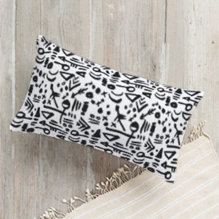 Tribal Tattoo Lumbar Pillow
