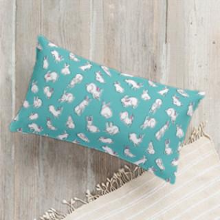 Bun Bun Fun Lumbar Pillow