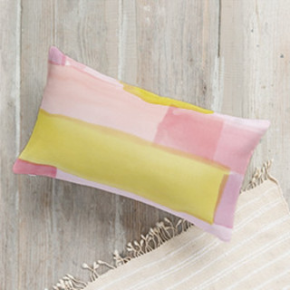 Abstract Watercolor Lumbar Pillow