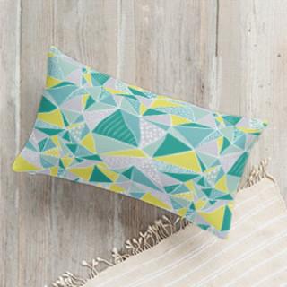 Connecting Angles Lumbar Pillow