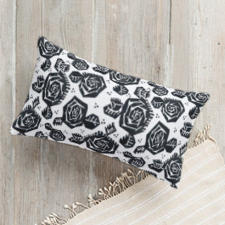 Tribal Rose Lumbar Pillow