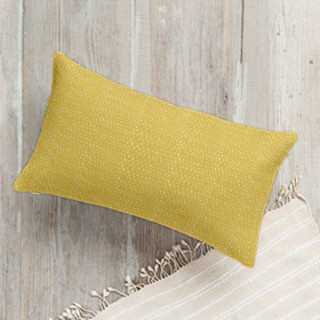 Yellow Triangle Lumbar Pillow