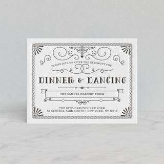 Grand Flourish Letterpress Reception Cards