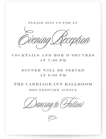 This is a bold and typographic, classic and formal, Reception Cards by Amy Payne called Tied the Knot with Letterpress printing on 100% Cotton in Card Flat Card format. This letterpress wedding invitation features classic typography and layout for a ...