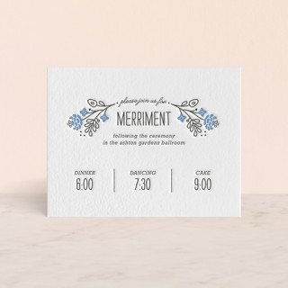 Prosperity Letterpress Reception Cards