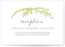 Garden Letterpress Reception Cards