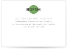 Dot and Cross Letterpress Reception Cards