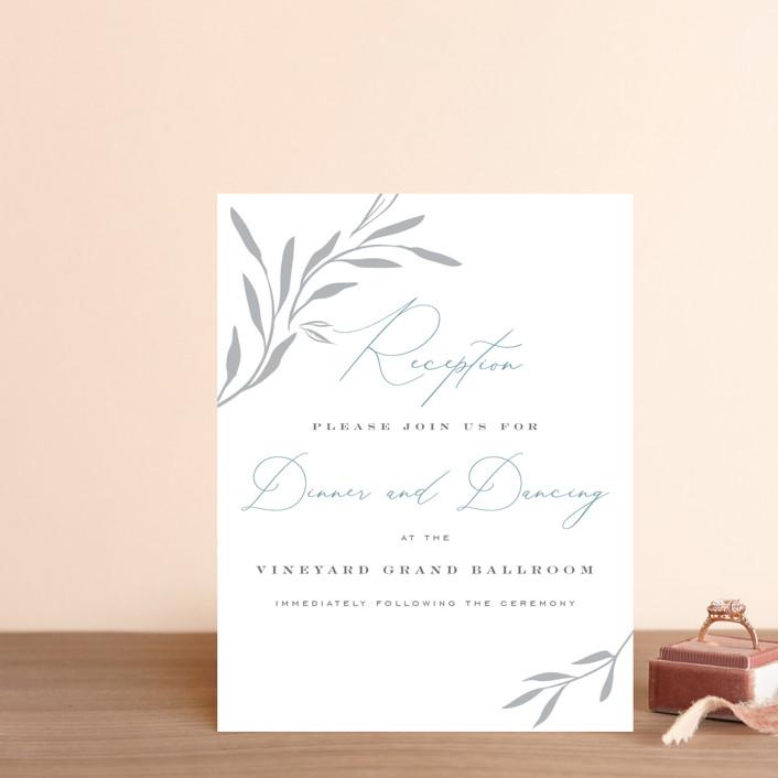 """Climbing Vines"" - Digital Reception Cards in Lagoon by Nicoletta Savod."