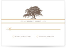 Oak Tree Letterpress RSVP Cards