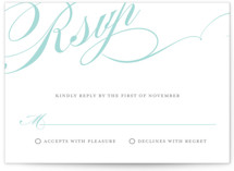 Winter Flourish Letterpress RSVP Cards