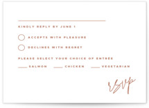 This is a rsvp card by JoAnn Jinks called Poised with letterpress printing on coventry320 in standard.