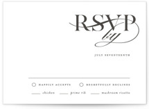 This is a rsvp card by Kelly Schmidt called Minimal Elegance with letterpress printing on somerset500 in standard.