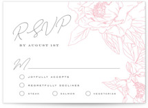 This is a rsvp card by Nicoletta Savod called Blushing with letterpress printing on somerset500 in standard.